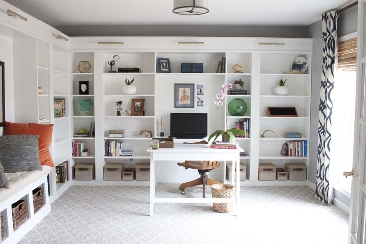 Most Up To Date Billy Bookcases Throughout Office Makeover Reveal (View 14 of 15)