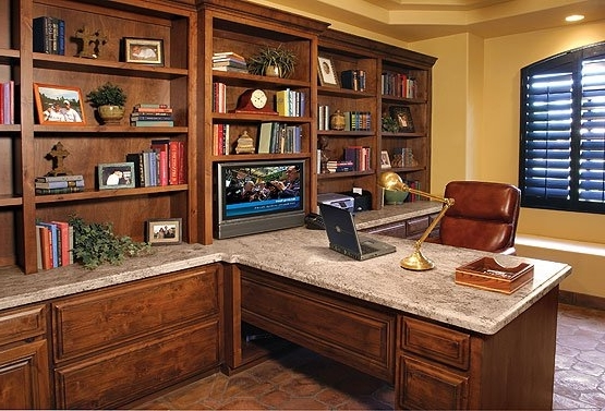 Most Up To Date Built In Study Furniture Inside Built In Office Furniture – Home Design Ideas And Pictures (View 12 of 15)