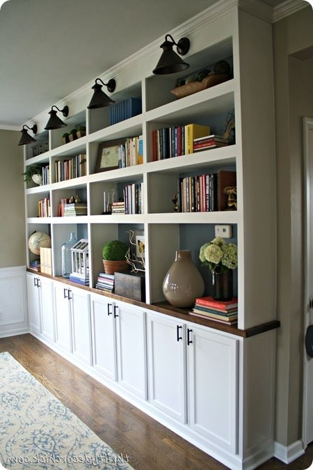 Most Up To Date Diy Built In Bookcases Butcher Block  Used Upper Cabinets For With Bookcases With Cupboard Base (View 8 of 15)