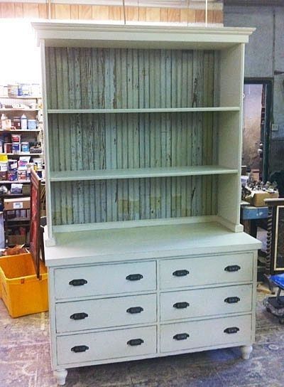 Most Up To Date Dresser And Bookcases Combo Pertaining To Bookshelf Dresser Most Popular Design Shabby White Stained (View 11 of 15)
