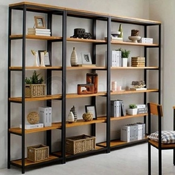 Most Up To Date Iron And Wood Bookcases Within Pinamiee G On Home Reno Ideas  Decor And Small Elements (View 12 of 15)