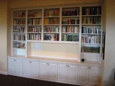 Most Up To Date Made Bookcases Within Custom Made Bookshelves Built In With Rolling Ladders Home (View 9 of 15)