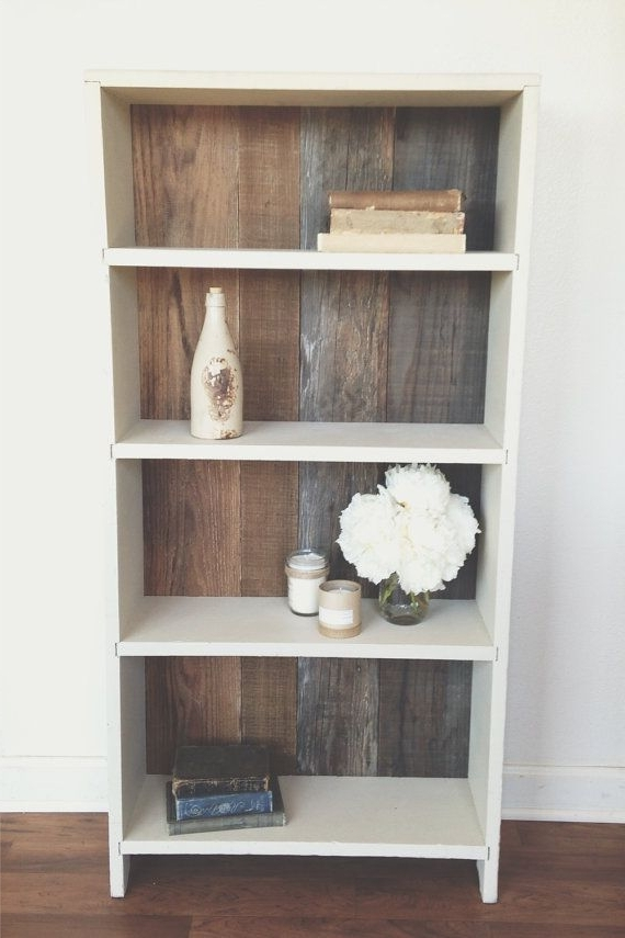 Most Up To Date Rustic, Reclaimed Wood, Bookshelf Makeover Old Laminate Shelving Throughout Painted Wood Bookcases (View 10 of 15)