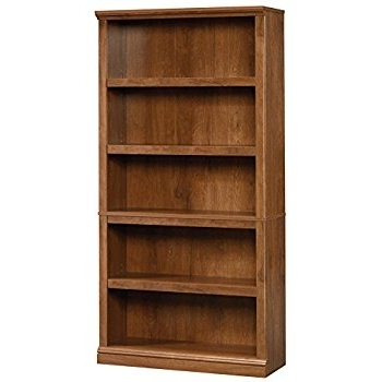 Most Up To Date Sauder 5 Shelf Bookcases For Amazon: Sauder 5 Shelf Bookcase, Oiled Oak Finish: Kitchen (View 4 of 15)