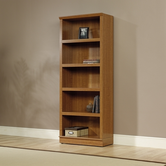 Most Up To Date Sauder Home Plus Sienna Oak 5 Shelf Bookcase 411957 With Regard To 5 Shelf Bookcases (View 9 of 15)