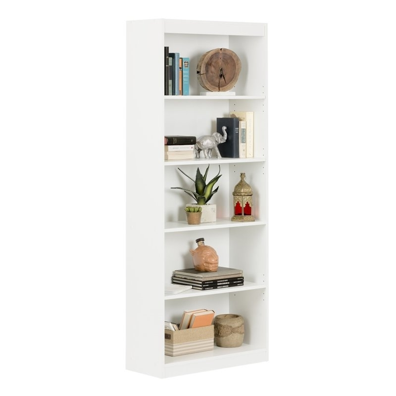 Most Up To Date South Shore 5 Shelf Bookcase In Pure White – 7250768C Inside South Shore 5 Shelf Bookcases (View 7 of 15)