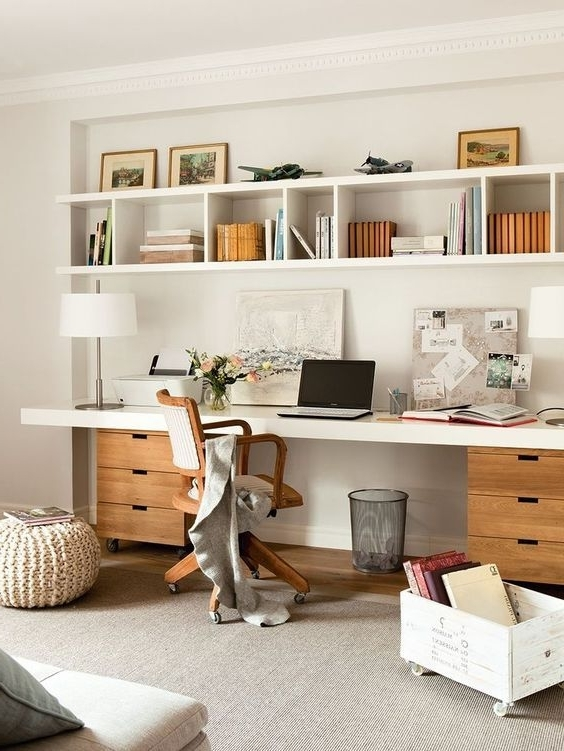 Most Up To Date Study Desk With Bookshelves Throughout Best 25+ Shelves Above Desk Ideas On Pinterest (View 7 of 15)