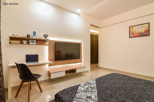 Most Up To Date Study Wall Unit Designs Pertaining To Tv Unit And Study Table – Contemporary – Bedroom – Bengaluru – (View 5 of 15)