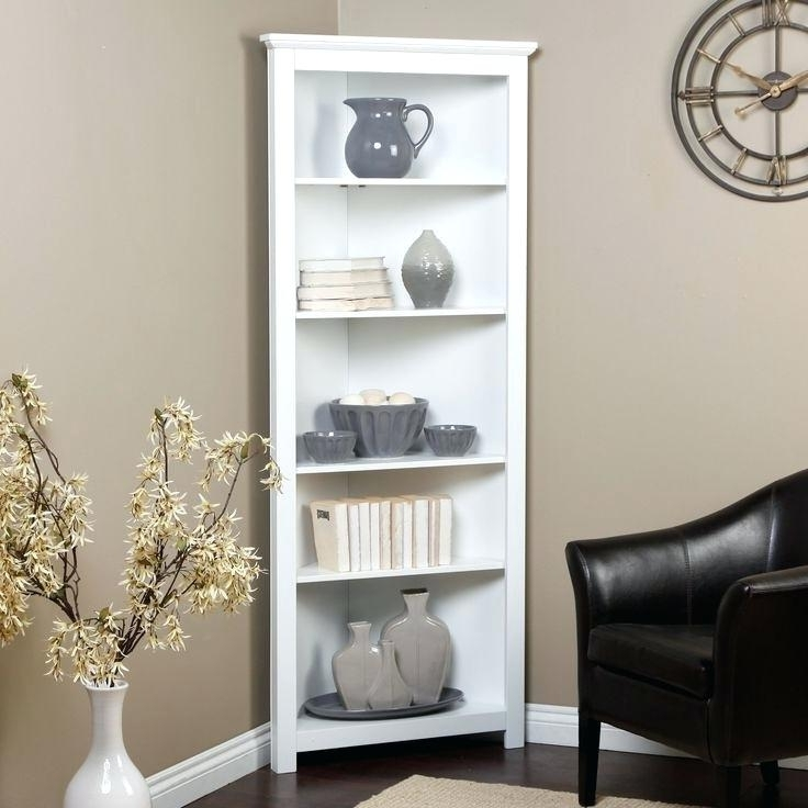 Most Up To Date Tall Corner Bookcase Tall Corner Bookshelves Remodel Ideas Best Throughout White Corner Bookcases (View 10 of 15)