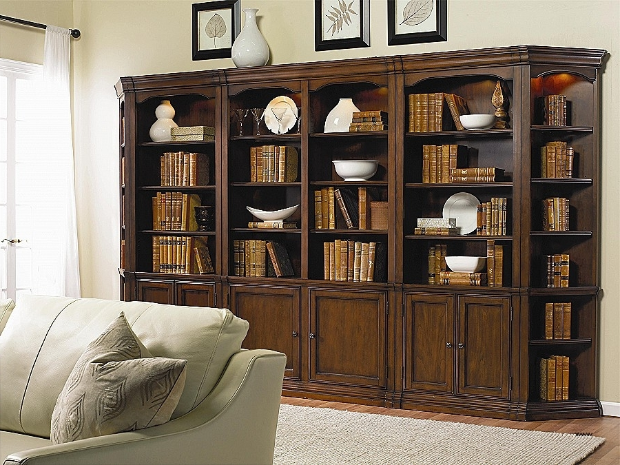 Most Up To Date Traditional Bookcases Throughout Wall Unit With Desk And Bookcases Fresh Hooker Furniture Cherry (View 8 of 15)
