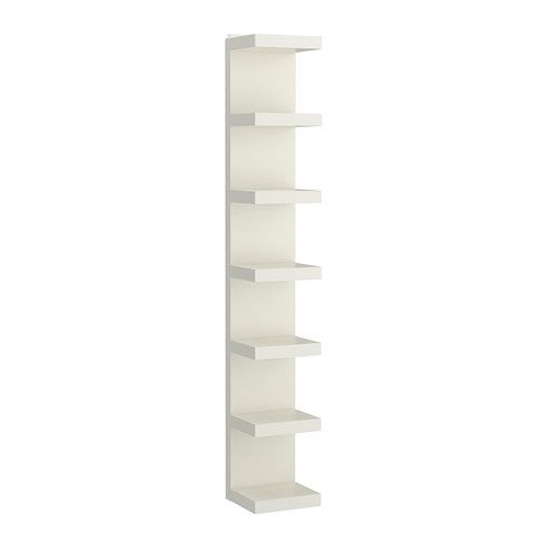 Most Up To Date Very Narrow Shelving Unit Intended For Lack Wall Shelf Unit, White (View 4 of 15)