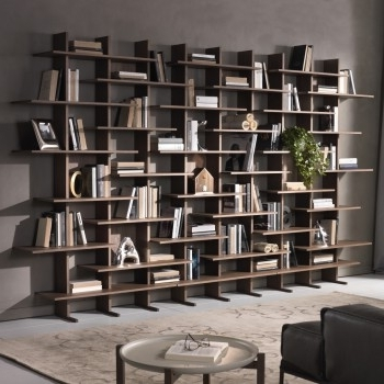 Most Up To Date Wall Bookcases Online – Arredaclick Intended For Wall Bookcases (View 8 of 15)