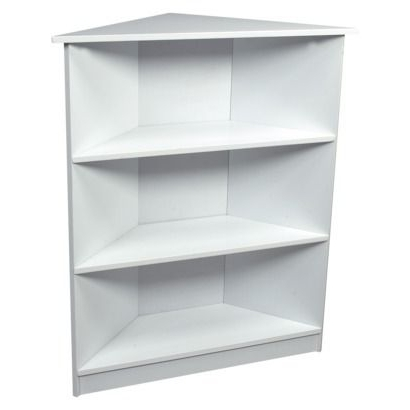 Most Up To Date White Corner Bookcases With Regard To Gift Mark 3 Tier Corner Bookcase White Target Bookcases And Gifts (View 5 of 15)