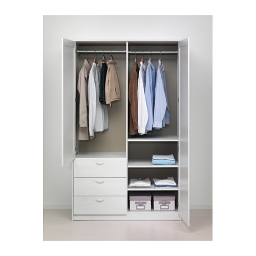 Musken Wardrobe With 2 Doors+3 Drawers – Ikea Regarding 2018 Wardrobes Drawers And Shelves Ikea (View 7 of 15)