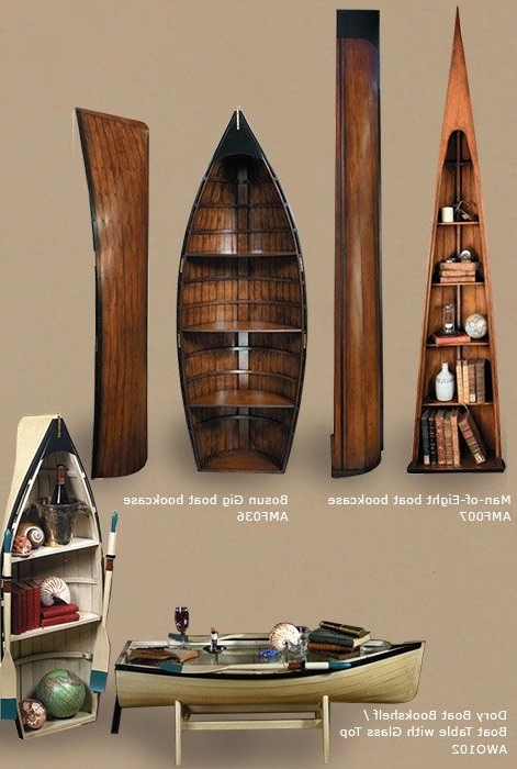 Nautical Decor; Boat Bookcases And Coffee Table; Nautical Pertaining To Latest Boat Bookcases (View 14 of 15)