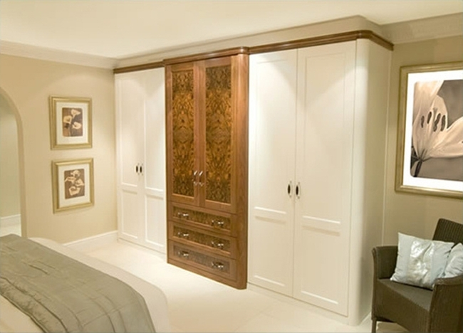Neat Ideas Of Burr Walnut White Fitted Wardrobes (650×468 With Regard To Most Recent Fitted Wooden Wardrobes (View 11 of 15)