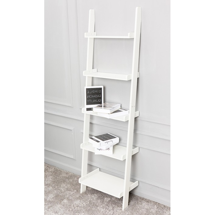Newest 50 Ladder Shelf White, Bathroom Ladder Shelf White Goodglance With Regard To White Ladder Shelf (View 8 of 15)