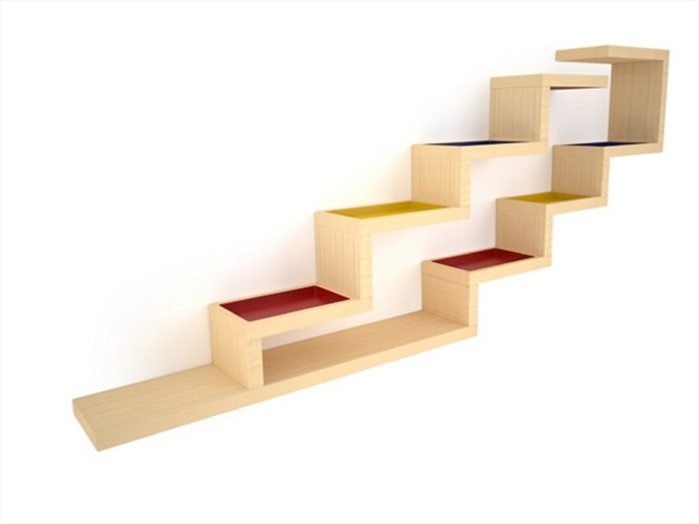 Newest Alain Marzat Zig Zag Shelf Inside Zig Zag Bookcases (View 5 of 15)