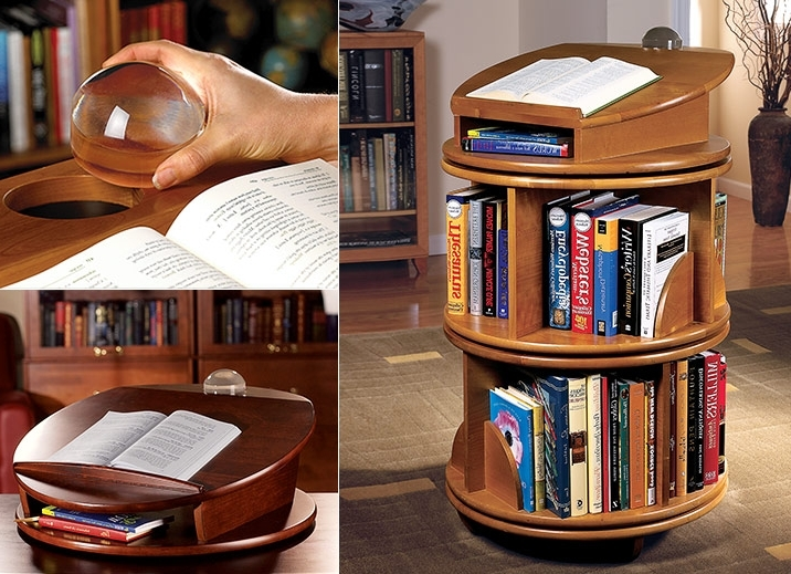 Newest Carousel Revolving Bookcase – Revolving Bookcase, Wood Bookcase Within Rotating Bookcases (View 13 of 15)