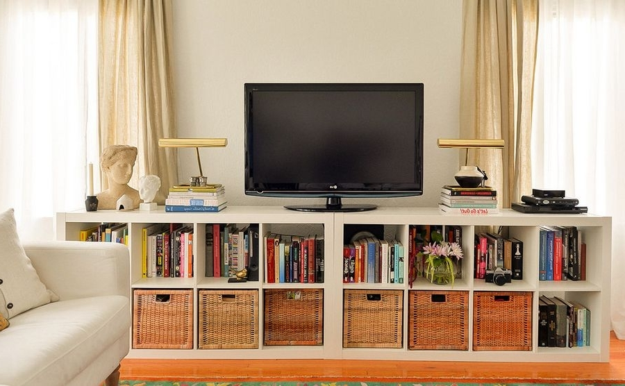 Newest Minimalist Wall Units Glamorous Bookcase With Tv Shelf Of Stand With Tv Bookcases Unit (View 6 of 15)