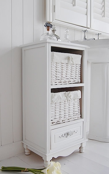 Newest Sophisticated Rose Free Standing Bathroom Cabinet White Cottage On With Regard To Free Standing Storage Cupboards (View 13 of 15)