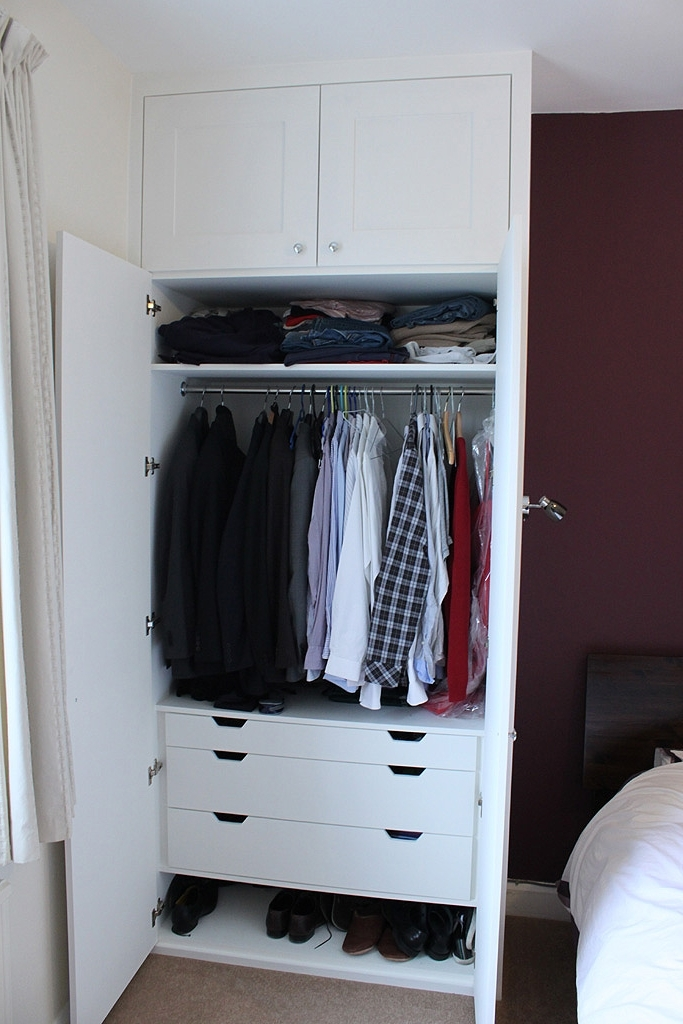 Newest Wardrobes With Shelves And Drawers With Traditional Fitted Wardrobe With Drawers, Hand Painted (Gallery 5 of 15)