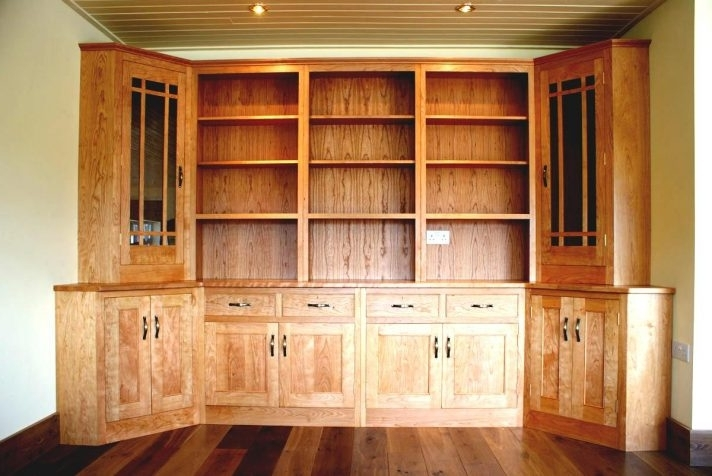 Newest Wooden Storage Cabinet With Drawers And Open Shelf Also Upper Wall Regarding Large Cupboard With Shelves (View 12 of 15)