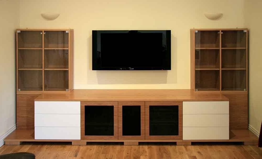 Oak Av Furniture, Oak Av Cabinets, Oak Tv Stands, Oak Media Wall Regarding Recent Bespoke Tv Units (View 13 of 15)
