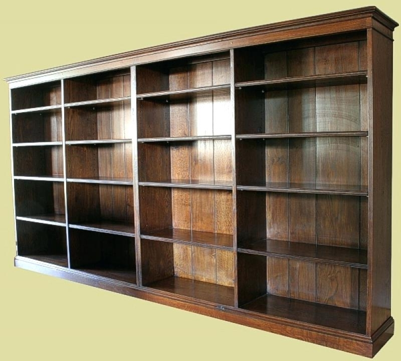 Oak Book Shelves – Lamdepda Intended For Most Current Oak Glazed Bookcases (View 11 of 15)