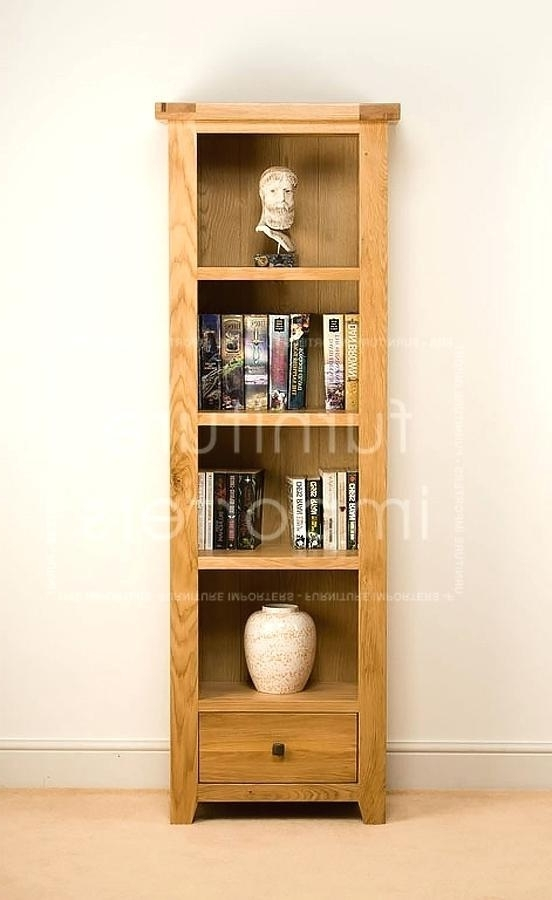 Oak Bookcases Contemporary Oak Bookcase W X D X H Oak Bookcases Pertaining To Most Popular Contemporary Oak Bookcases (Gallery 12 of 15)