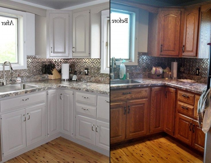 Oak Cupboards Intended For Popular Best 25+ Oak Cabinet Kitchen Ideas On Pinterest (View 8 of 15)