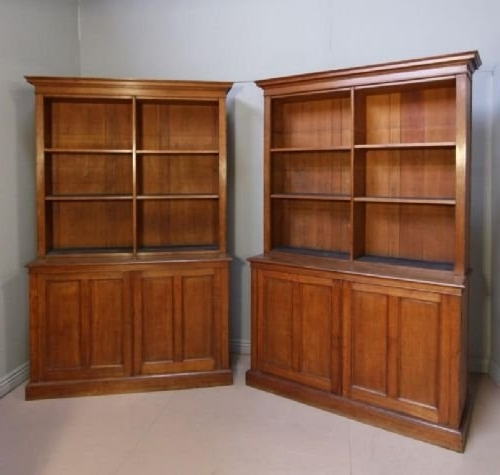 Oak Library Bookcases For Well Liked Pair Of Antique Oak Library Bookcases (View 8 of 15)