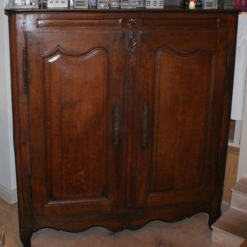 Oak Linen Cupboard Intended For Well Liked 18Thc French Oak Linen Cupboard – Antiques Atlas (View 11 of 15)