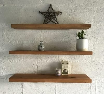 Oak Shelves With Latest Oak Shelves – Kiln Dried With Straight Brackets • Celtic Timber (Gallery 7 of 15)