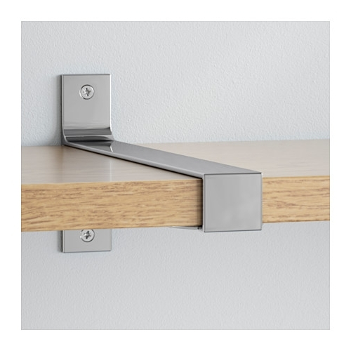 Oak Wall Shelves With Regard To Famous Ekby Bjärnum/ekby Järpen Wall Shelf Oak/aluminium 239X28 Cm – Ikea (View 9 of 15)