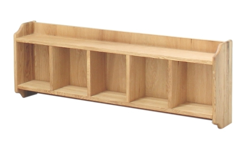 Oak Wall Shelving Units Throughout Well Known Solid Oak Wall Mounted Shelving Unit This Attractive And Versatile (View 8 of 15)