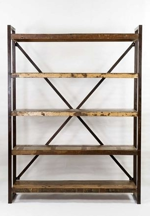 Open Bookcases With Regard To Widely Used Open Shelf Bookcase – Industrial – Bookcases – Other  Warehouse (View 13 of 15)