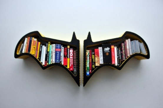 Original Batman Bat Shaped Bookshelf – Digsdigs In Most Up To Date Batman Bookcases (View 12 of 15)