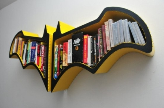Original Batman Bat Shaped Bookshelf – Digsdigs Pertaining To 2017 Batman Bookcases (View 13 of 15)