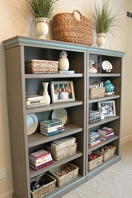 Painted Bookshelf Best Painted Bookshelves Ideas On Living Room For Well Known Painted Bookshelves (View 8 of 15)