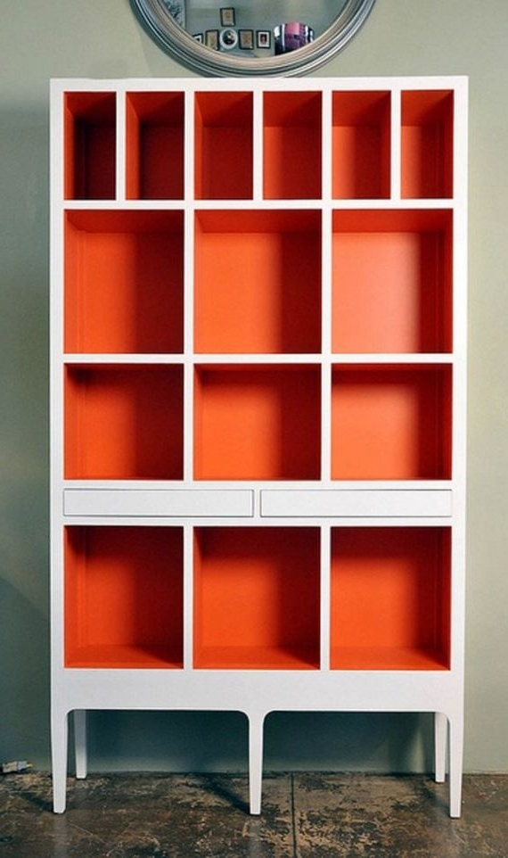 Painted Bookshelves Within Most Recent Color Bookcase #3 Best 25+ Painted Bookshelves Ideas On Pinterest (View 7 of 15)