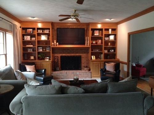 Painted Oak Bookcases Pertaining To Most Recently Released Honey Oak Built In Bookshelves (View 6 of 15)