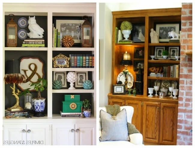 Painted Oak Cabinets, Tangled Painting And Oak Throughout Painted Oak Bookcases (View 8 of 15)