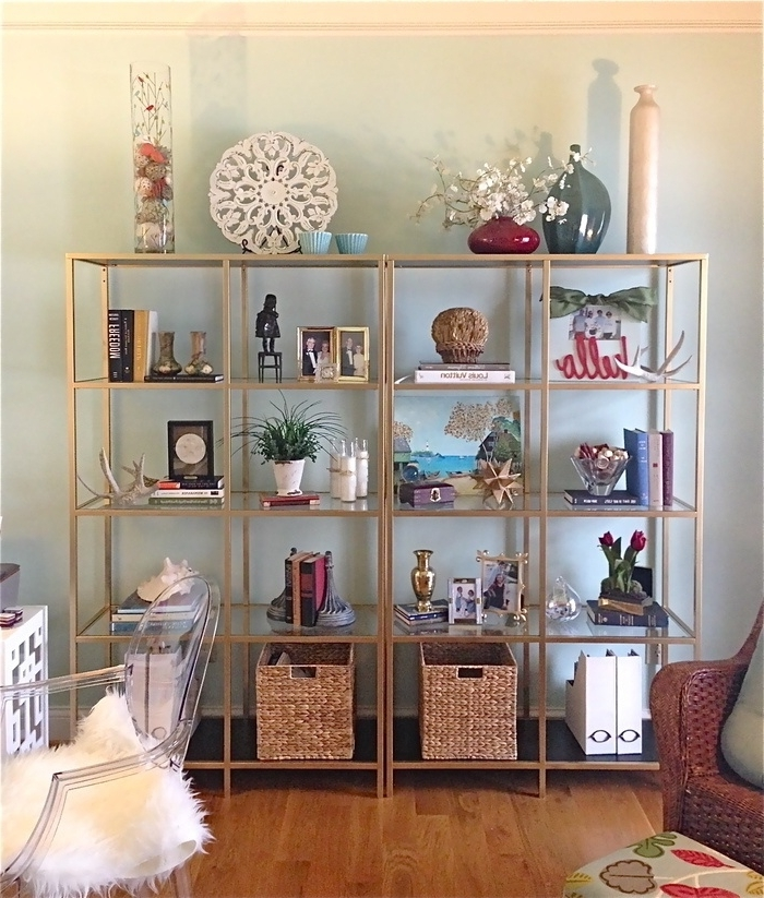 Painted Shelving Units Inside Trendy Painted Vittsjo Shelving Unit – Google Search (View 9 of 15)