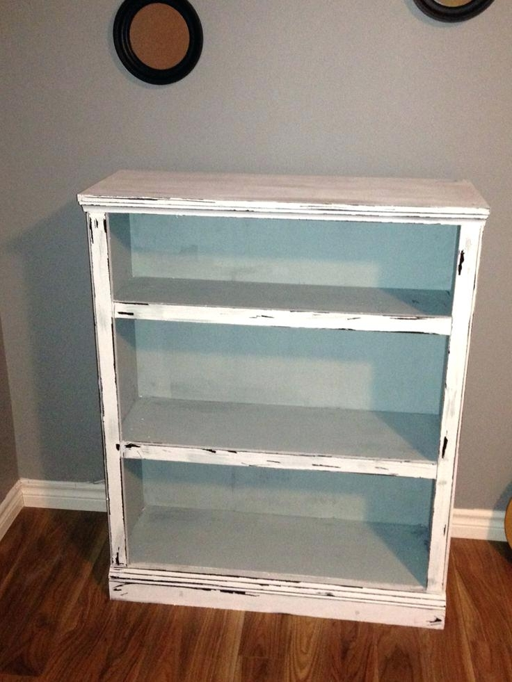 Painted Wood Bookcases Within Newest Painted Wood Bookcase Giving Old Laminate Furniture A Whole New (View 12 of 15)