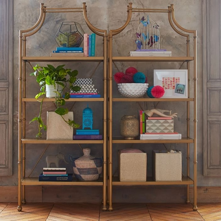 Pbteen Pertaining To Latest Gold Bookcases (View 11 of 15)