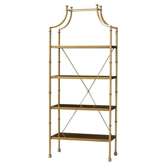 Pbteen Pertaining To Well Known Gold Metal Bookcases (View 11 of 15)