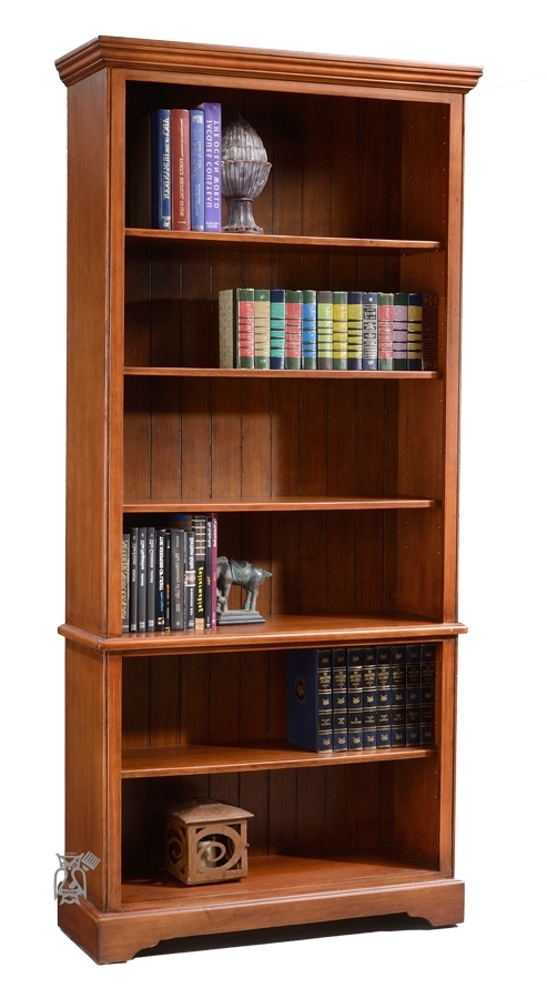 "Pine Vintage Bookcase Antique Pecan 84""h (View 8 of 15)"