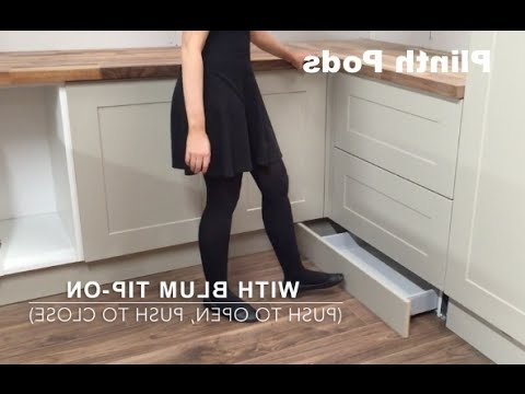 Plinth Pods. Under Unit Plinth Drawers – Youtube With Regard To Fashionable Plinth Drawer (Gallery 8 of 15)