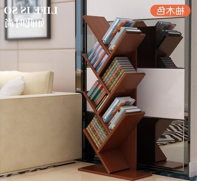 Popular 104Cm Eco Friendly 7 Layers Creative Tree Style Bookcases Portable Pertaining To Tree Bookcases (View 9 of 15)